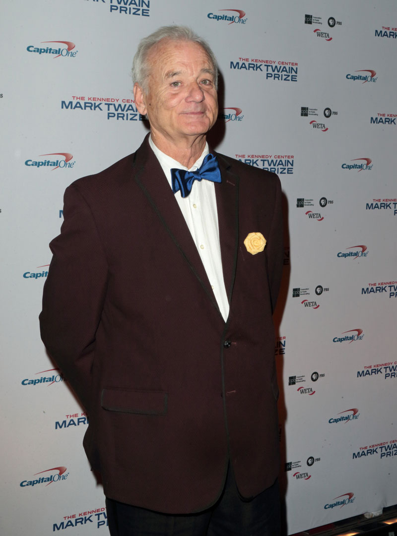 Bill Murray arrives at the Kennedy Center for the Performing Arts for the 19th Annual Mark Twain Prize for American Humor presented to Murray on Sunday, Oct. 23, 2016, in Washington. Photo: AP