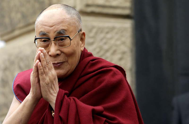 Tibet's exiled spiritual leader the Dalai Lama gestures during his visit in Prague, Czech Republic, on Monday, October 17, 2016. Photo: Reuters