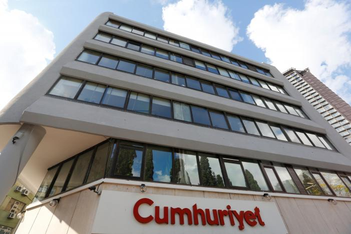 Headquarters of Cumhuriyet newspaper, an opposition secularist daily, is pictured in Istanbul, Turkey, October 31, 2016. REUTERS/Murad Sezer