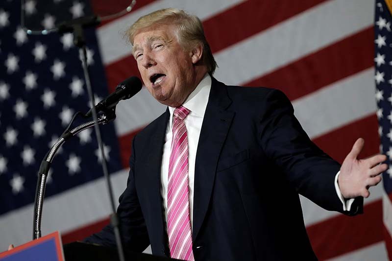 Republican presidential nominee Donald Trump speaks at a campaign rally in Manheim, Pennsylvania, on October 1, 2016. Photo: Reuters