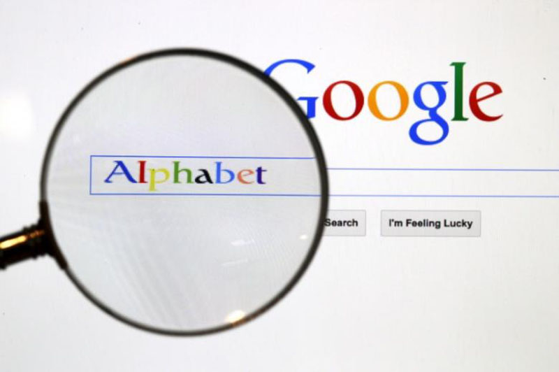 A Google search page is seen through a magnifying glass in this photo illustration taken in Berlin, on August 11, 2015. Photo: Reuters
