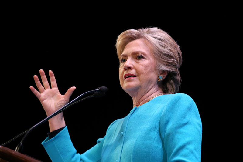 US Democratic presidential nominee Hillary Clinton speaks at a fundraiser in Seattle, Washington, US, on October 14, 2016. Photo: Reuters