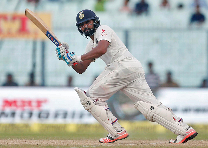 India's Rohit Sharma plays a shot. Photo: Reuters