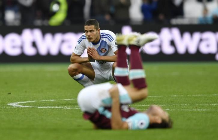 Britain Soccer Football - West Ham United v Sunderland - Premier League - London Stadium - 22/10/16nSunderland's Jack Rodwell looks dejected after the match nAction Images via Reuters / Tony O'BriennLivepic