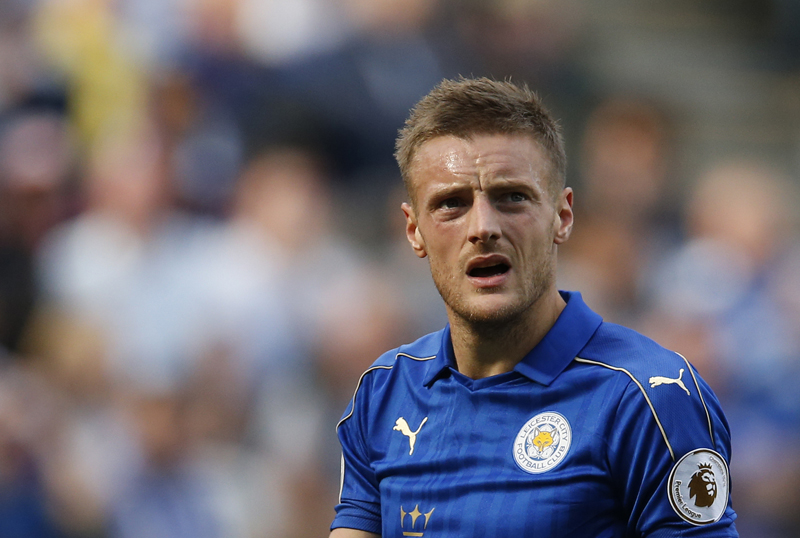 Leicester City's Jamie Vardy. Photo: ReutersnAction Images via Reuters / Andrew BoyersnnLivepicnnEDITORIAL USE ONLY.