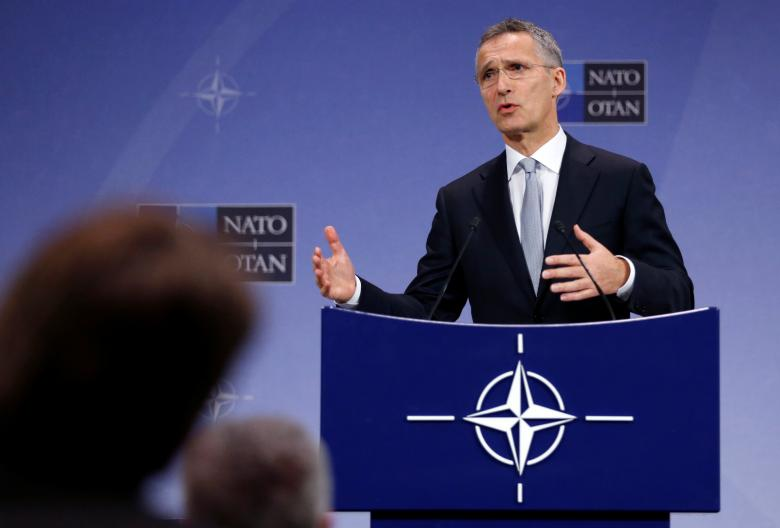 NATO Secretary-General Jens Stoltenberg speaks during a news conference at the Alliance headquarters in Brussels, Belgium, October 25, 2016.   REUTERS/Francois Lenoir