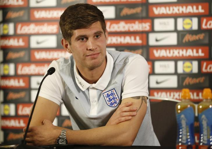 Football Soccer Britain - England Press Conference - St. George's Park, Burton upon Trent - 5/10/16nEngland's John Stones during the press conferencenAction Images via Reuters / Carl Recine/ Livepic/ Files