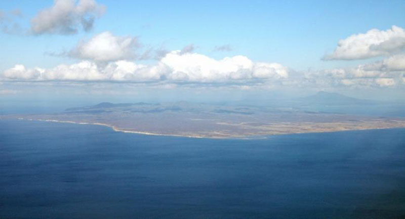 An aerial view shows Kunashiri Island, one of four islands known as the Southern Kuriles in Russia and Northern Territories in Japan, is seen in this photo taken in 2005. Photo: Reuters