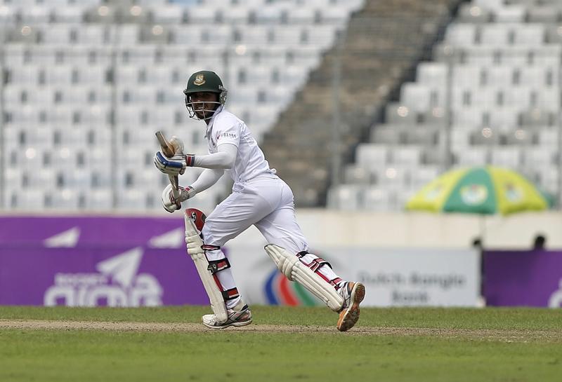 Bangladesh's Mominul Haque runs after playing a shot. Photo: Reuters