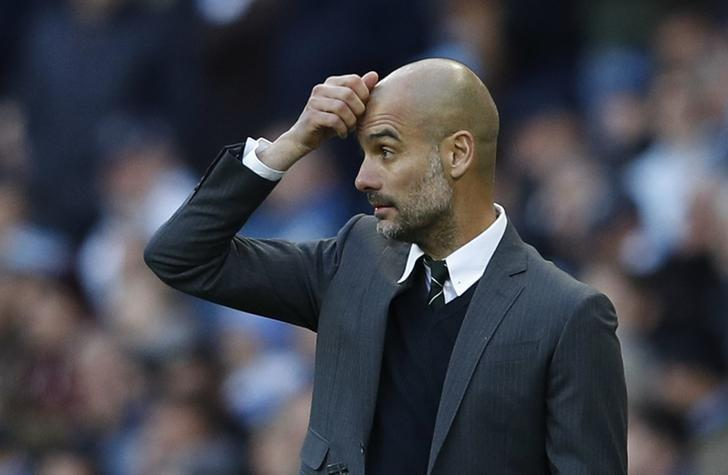 Britain Soccer Football - Manchester City v Southampton - Premier League - Etihad Stadium - 23/10/16 Manchester City manager Pep Guardiola Reuters / Phil Noble Livepic