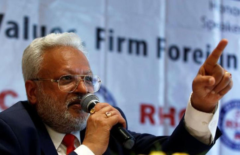 President of the Republican Hindu Coalition Shalabh Kumar gestures during a news conference in New Delhi, India, on October 7, 2016. Photo: Reuters