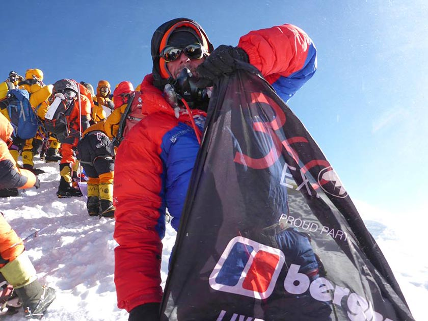 Australian climber Rolfe Oostra on Mt Everest in last spring. File Photo