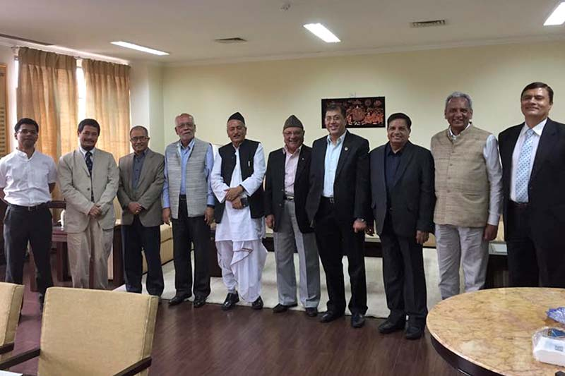 FILE: Members of the Eminent Persons Group on Nepal-India Relations after their second meeting in New Delhi on Wednesday, October 5, 2016. Photo Courtesy: Nilamber Acharya