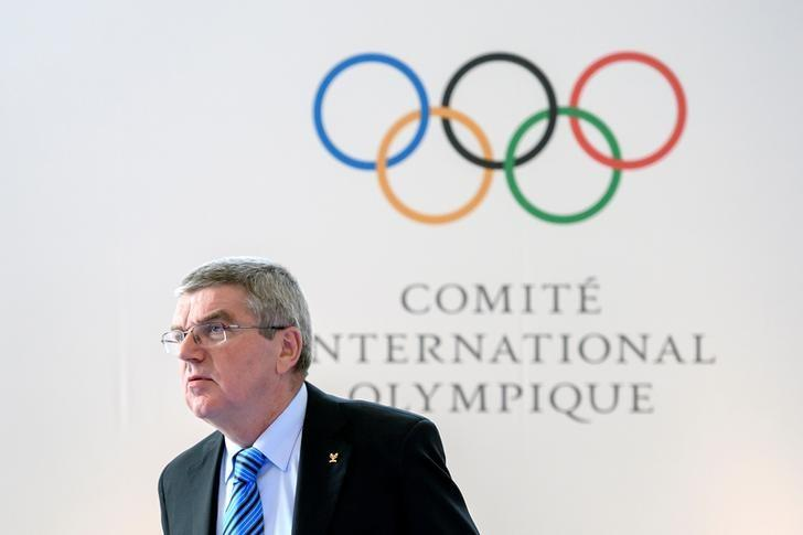 International Olympic Committee (IOC) President Thomas Bach looks on at the opening of an Olympic Summit on reforming the anti-doping system on October 8, 2016 in Lausanne. REUTERS/Fabrice Coffrini/Pool/Files