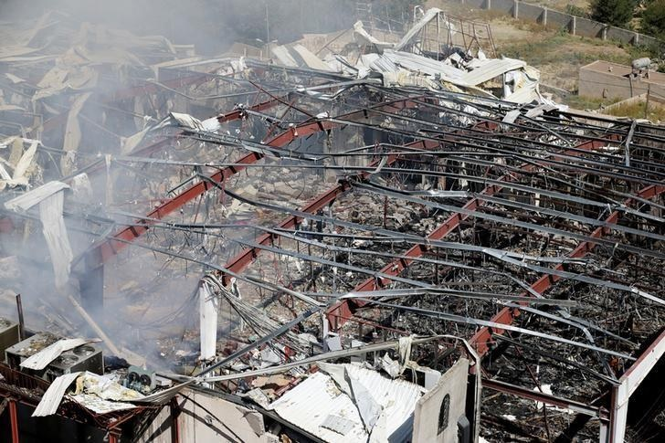 A view of the community hall where Saudi-led warplanes struck a funeral in Sanaa, the capital of Yemen, on October 9, 2016. Photo: Reuters