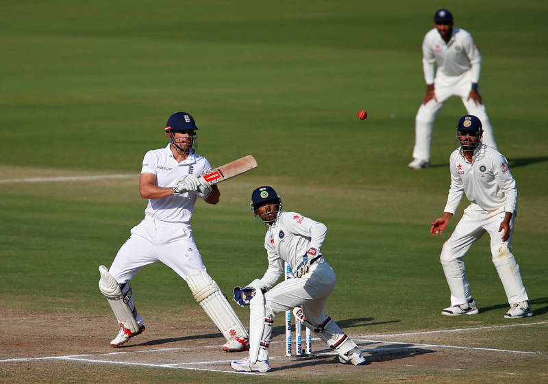 England's Alastair Cook plays a shot. Photo: Reuters