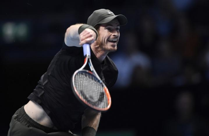 Britain Tennis - Barclays ATP World Tour Finals - O2 Arena, London - 14/11/16 Great Britain's Andy Murray in action during his round robin match against Croatia's Marin Cilic  Action Images via Reuters / Tony O'Brien Livepic