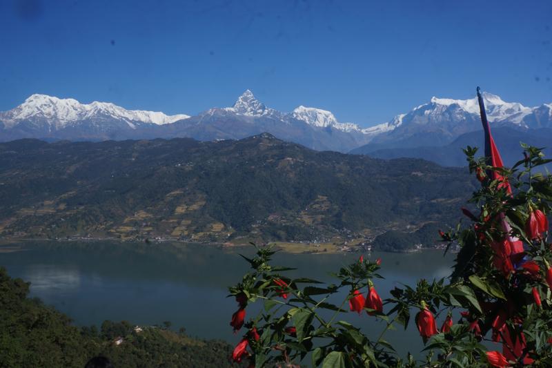 FILE: A splendid view of Annapurna Mountain Range and Phewa Lake as seen from the World Peace Pagoda of Pokhara, on Saturday, November 5, 2016. Photo: Bharat Koirala