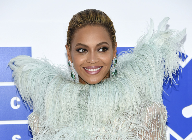 FILE - In this Aug. 28, 2016 file photo, Beyonce Knowles arrives at the MTV Video Music Awards at Madison Square Garden, in New York. Photo: AP