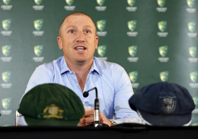 Brad Haddin announces his retirement from the sport at the Sydney Cricket Ground, September 9, 2015.  REUTERS/Jason Reed