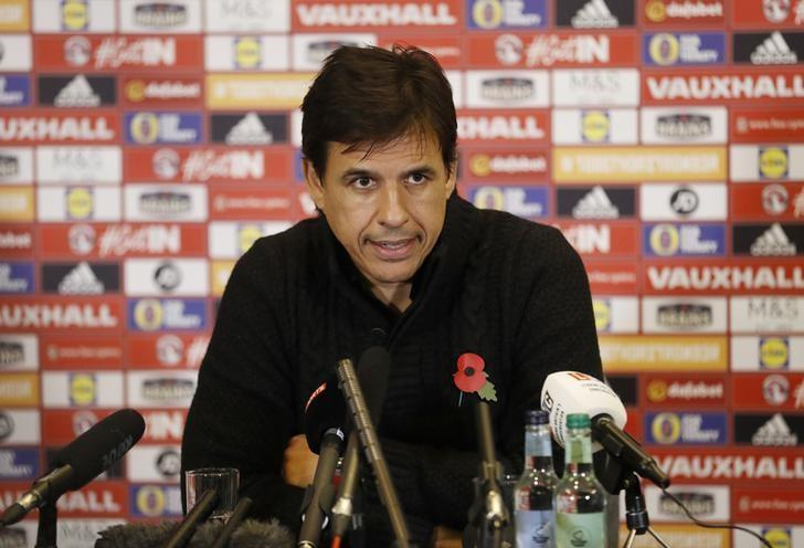 Britain Football Soccer - Wales - Chris Coleman Press Conference - The Vale Hotel, Hensol, Vale of Glamorgan, Wales - 2/11/16 Wales manager Chris Coleman during the press conference Action Images via Reuters / Carl Recine/ Livepic