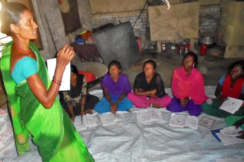 Girls from the Dalit community attend classes in Haripur VDC, Saptari, on Saturday, November 12, 2016. Photo: THT
