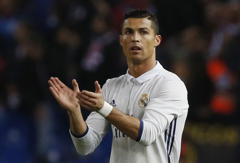 Real Madrid's Cristiano Ronaldo celebrates scoring their second goal. Photo: Reuters
