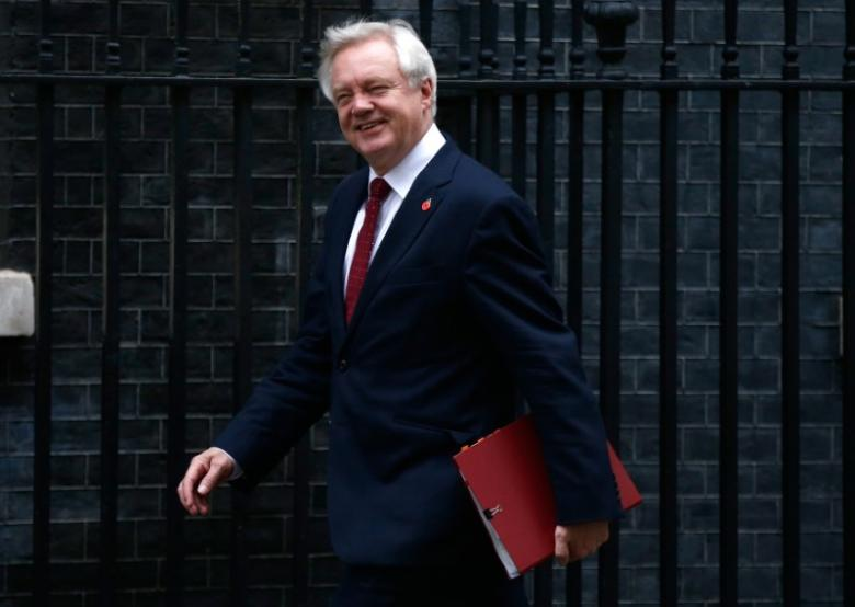 Britain's Secretary of State for Departing the EU David Davis arrives in Downing Street for a cabinet meeting, in London, November 15, 2016. REUTERS/Peter Nicholls