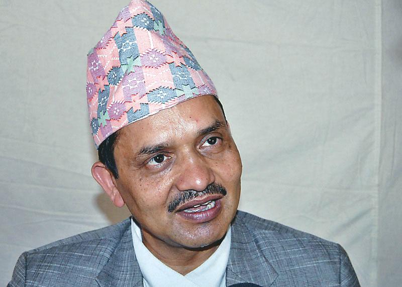 Interview with Dr Govinda Raj Pokhrel vice chairman of NPC at Singha durbar in kathmandu. Photo: Balkrishna Thapa Chhetri/THT