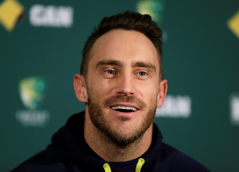 South Africa's cricket captain Faf du Plessis speaks at a news conference before the third cricket test against Australia in Adelaide. Photo: Reuters