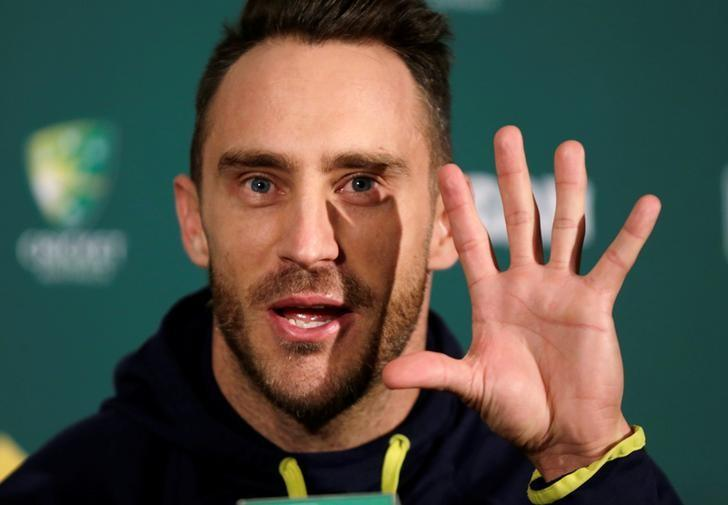 Cricket - Australia v South Africa - Third Test cricket match - Adelaide Oval, Adelaide, Australia - 23/11/16. South Africa's cricket captain Faf du Plessis speaks at a news conference before the third cricket test against Australia in Adelaide.    REUTERS/Jason Reed
