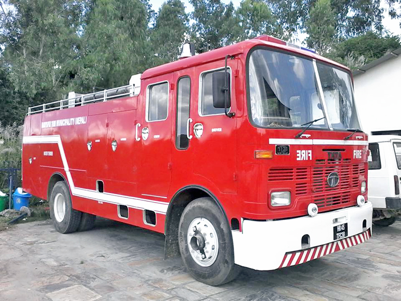A view of the Madyapur Thimi Municipality's fire engine as captured on Friday, November 25, 2016. Photo: RSS