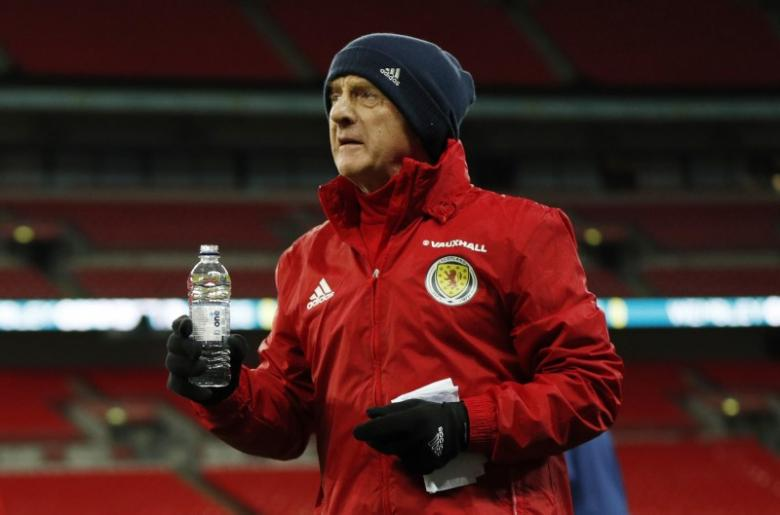 Britain Soccer Football - Scotland Training - Wembley Stadium, London, England - 10/11/16 Scotland manager Gordon Strachan during training Action Images via Reuters / John Sibley Livepic