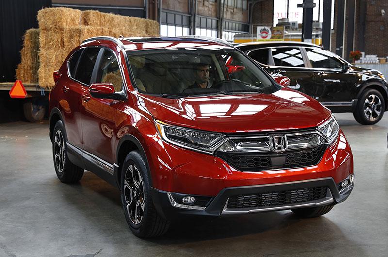 FILE- The 2017 Honda CR-V, in Detroit, on October 12, 2016. Photo: AP