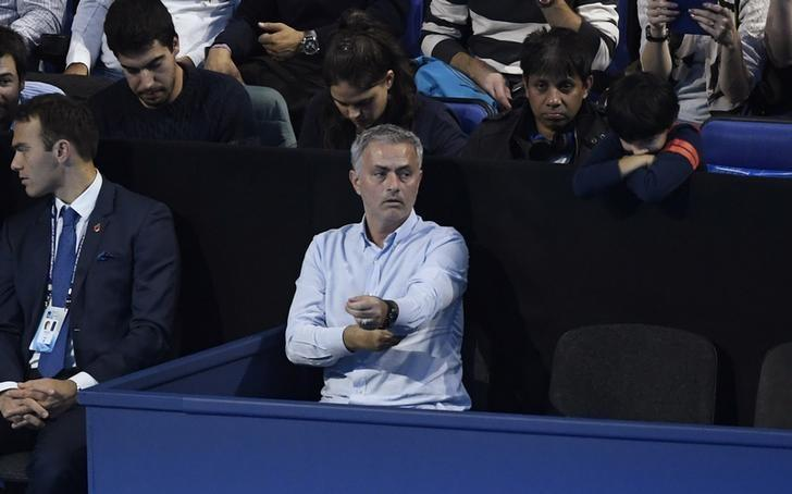 Britain Tennis - Barclays ATP World Tour Finals - O2 Arena, London - 13/11/16 Manchester United manager Jose Mourinho in the stands during the round robin match between Austria's Dominic Thiem and Serbia's Novak Djokovic Action Images via Reuters / Tony O'Brien Livepic