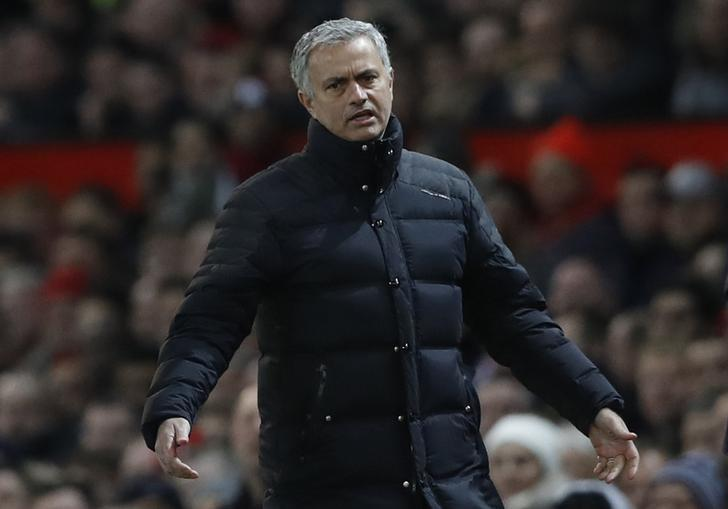 Britain Football Soccer - Manchester United v West Ham United - Premier League - Old Trafford - 27/11/16 Manchester United manager Jose Mourinho Action Images via Reuters / Carl Recine Livepic EDITORIAL USE ONLY.