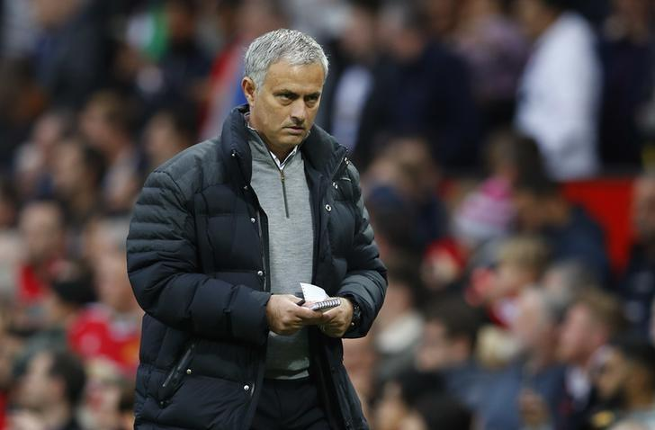 Britain Football Soccer - Manchester United v Burnley - Premier League - Old Trafford - 29/10/16. Manchester United manager Jose Mourinho. Reuters / Phil Noble