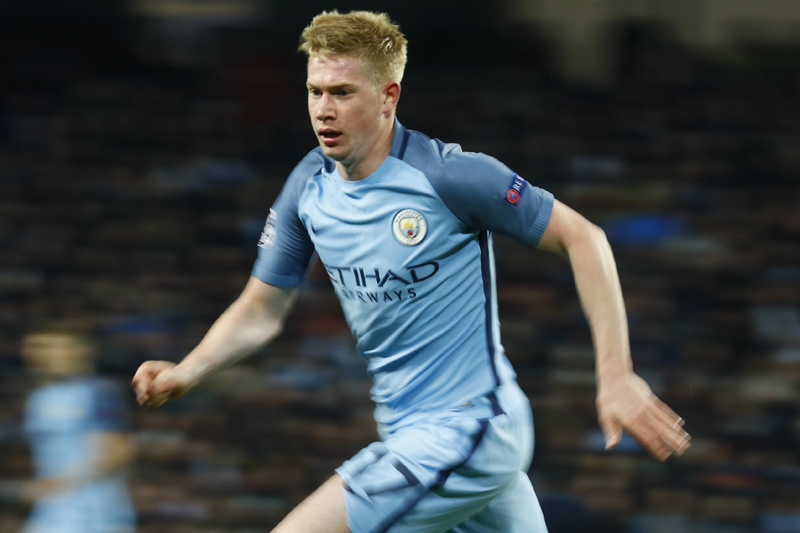 Manchester City's Kevin De Bruyne in action. Photo: Reuters