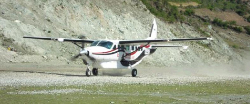File - A chartered plane of Makalu Air. Photo courtesy: Makalu Air
