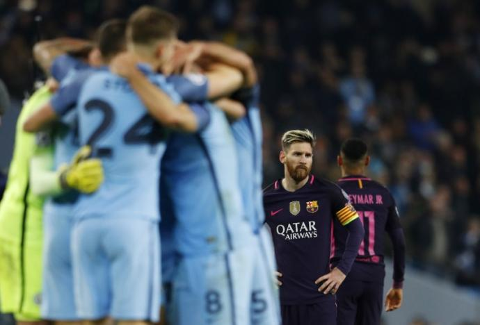 Britain Football Soccer - Manchester City v FC Barcelona - UEFA Champions League Group Stage - Group C - Etihad Stadium, Manchester, England - 1/11/16nBarcelona's Lionel Messi looks dejected after the game nReuters / Phil Noble