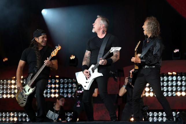 Metallica performs at the Global Citizen Festival at Central Park in Manhattan, New York, U.S., September 24, 2016. REUTERS/Andrew Kelly/File Photo