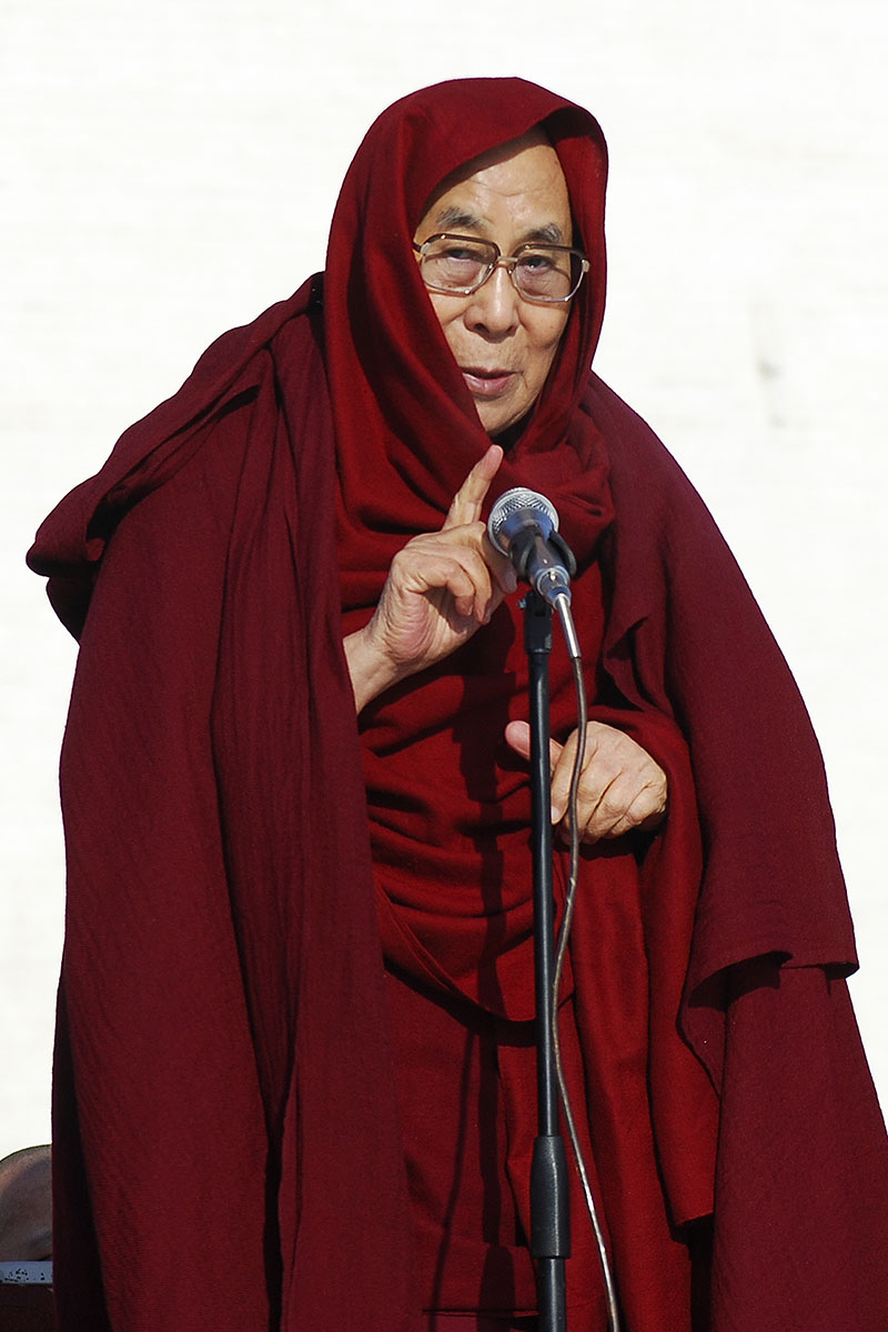 Dalai Lama speaks at the Janraiseg temple of Gandantegchinlen monastery in Ulaanbaatar, Mongolia, Saturday, Nov. 19, 2016. Photo: AP