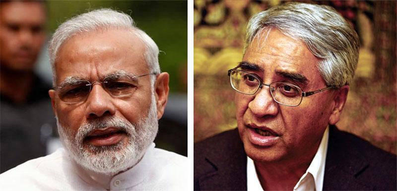 The combo image shows Indian Prime Minister Narendra Modi (left) and Nepali Congress President Sher Bahadur Deuba. Photo: Reuters/THT