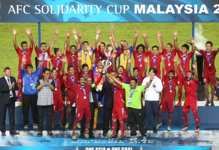 Nepal are the winners of the first edition of AFC Solidarity Cup. Photo: AFC