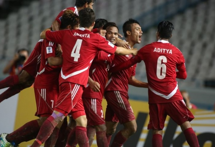 Nepal celebrate victory over Macau in AFC Solidarity Cup final. Photo: AFC