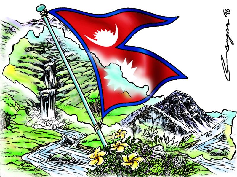 National flag. Illustration: Ratna Sagar Shrestha/THT