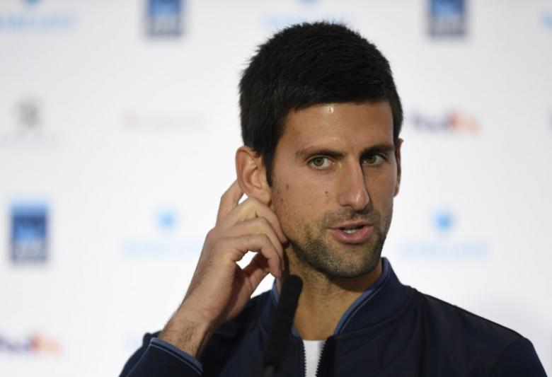 Britain Tennis - Barclays ATP World Tour Finals Preview - O2 Arena, London - 11/11/16 Serbia's Novak Djokovic during a press conference Action Images via Reuters / Tony O'Brien Livepic