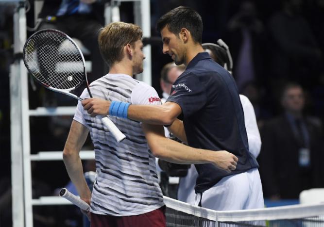 Britain Tennis - Barclays ATP World Tour Finals - O2 Arena, London - 17/11/16 Serbia's Novak Djokovic celebrates winning his round robin match with Belgium's David Goffin Reuters / Toby Melville Livepic