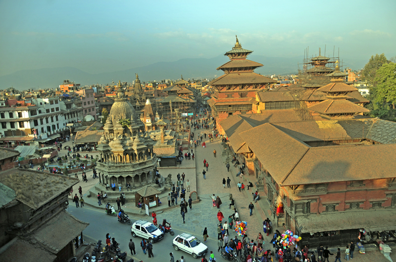 A view of Patan Durbar Square seen from the roof of a house, in Lalitpur, on Tuesday, November 22, 2016. Photo: Balkrishna Thapa Chhetri/THT