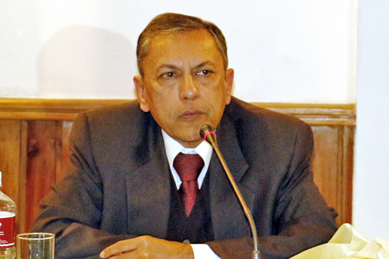 Indian Ambassador to Nepal Ranjit Rae speaking at a programme in Kathmandu, on Friday, November 25, 2016. Photo: RSS
